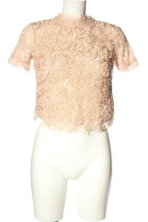 Zara Top de encaje crema estilo clásico