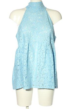 Zara Kanten topje blauw elegant