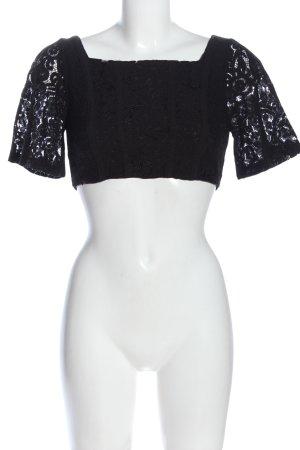 Zara Kanten topje zwart elegant