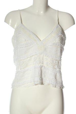 Zara Kanten topje wit casual uitstraling