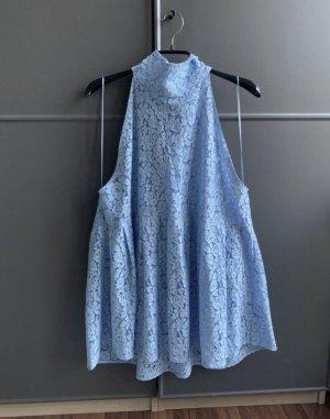 Zara Spitzentop Babydoll blau XL