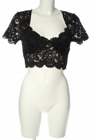 Zara Spitzentop schwarz Elegant