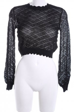 Zara Lace Top black graphic pattern casual look