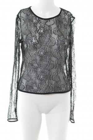 Zara Spitzentop schwarz schlichter Stil