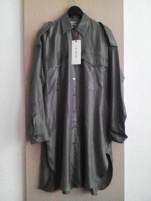 Zara SRPLS Collection Hemdblusenkleid aus 100% Maulbeer Seide, Größe S oversize, neu