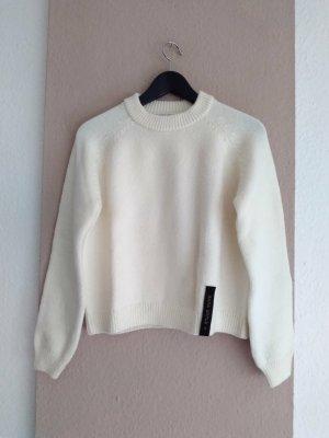 Zara SRPLS hübscher Pullover in creme aus 90% Wolle, Grösse S, neu