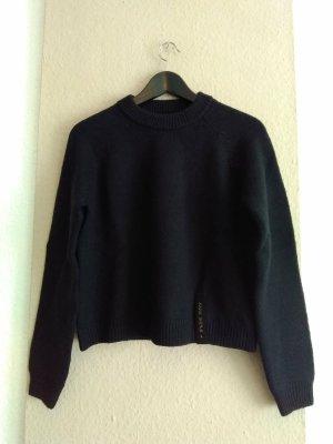 Zara SRPLS hübscher Pullover in schwarz aus 90% Wolle, Grösse S, neu