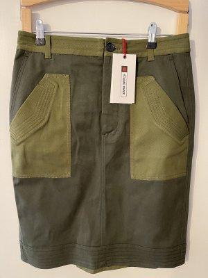 Zara Pencil Skirt green grey-khaki