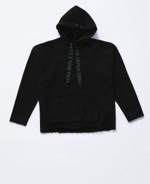 Zara SRPLS Unisex Damen schwarz hoodie Kapuzenpulli Gr.XL 42