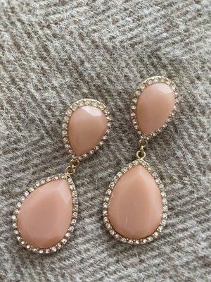 Zara Boucle d'oreille incrustée de pierres rosé