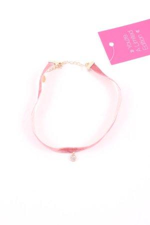 Zara Statementkette pink-goldfarben Elegant