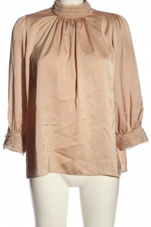 Zara Stehkragenbluse nude Business-Look