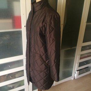Zara Abrigo acolchado marrón-marrón oscuro