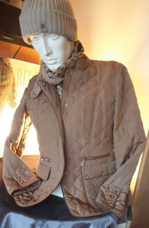 Zara Woman Pikowana kurtka brązowy-camel