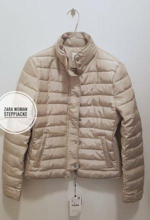 Zara Woman Quilted Jacket cream