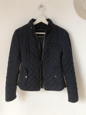 Zara Quilted Jacket dark blue-blue