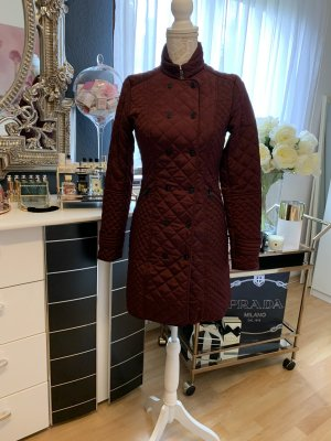 Zara Quilted Coat bordeaux polyester