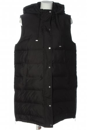 Zara Quilted Gilet black quilting pattern casual look
