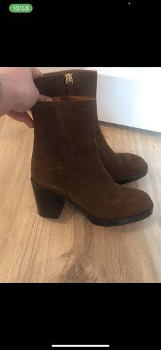 Zara Krótkie buty brązowy