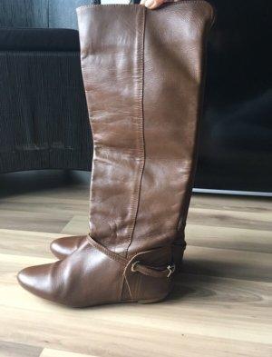 Zara Stiefel Boots Reitstiefel Herbst Winter Braun Cognac 37