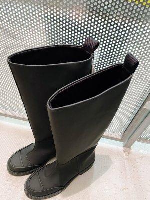 Zara Botte en caoutchouc noir
