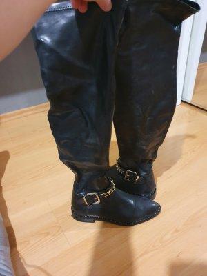 Zara Bottes stretch noir-argenté