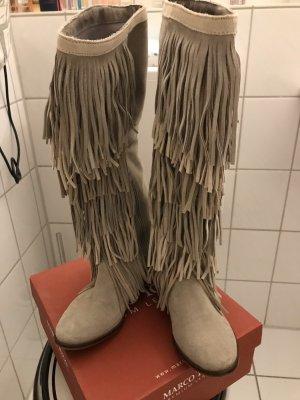Zara Buty w stylu western jasnobeżowy