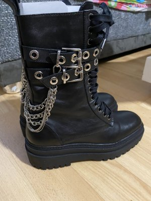 Zara Stivale invernale nero-argento