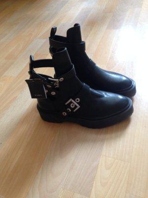Zara Basic Booties black polyurethane