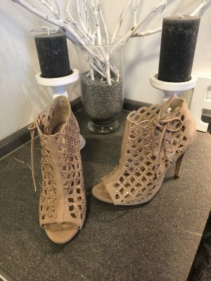 Zara Bottes à bout ouvert or rose-rose clair