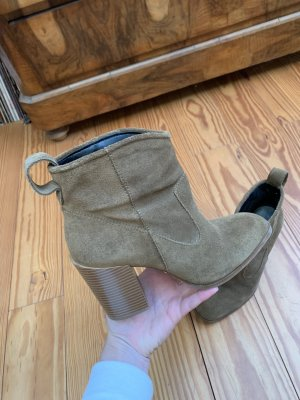 Zara Slip-on Booties taupe-khaki
