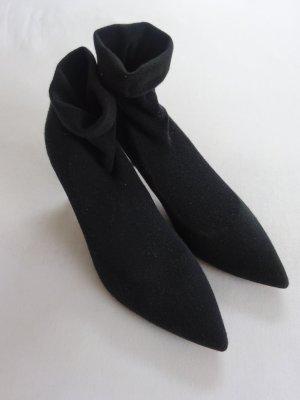 Zara Stiefelette Sommer Strumpf Jersey black 41(40) neuw.