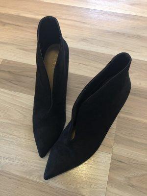 Zara Botas cut out negro