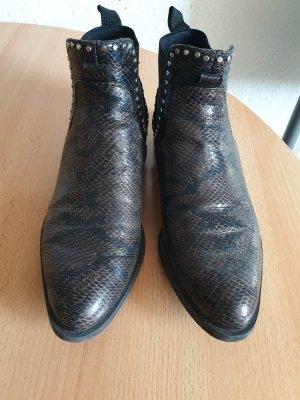 Zara Korte laarzen grijs-bruin-bruin