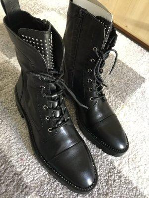 Zara Stiefeletten schwarz Leder 38