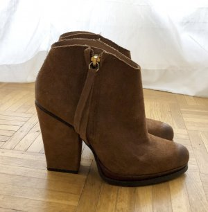 Zara Western laarsjes bruin-goud Suede