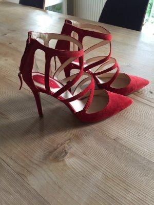 Zara Stilettos Pumps aus , rot Größe 41