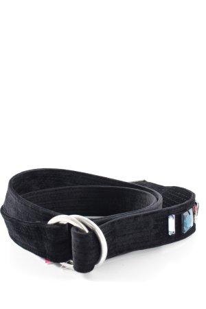 Zara Cinturón de tela negro estilo extravagante