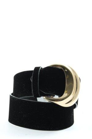 Zara Pasek z materiału czarny W stylu casual