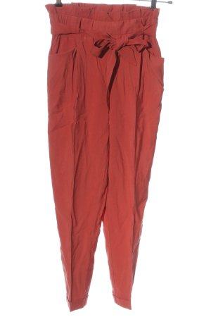 Zara Pantalon en jersey rouge style décontracté