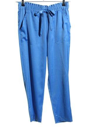 Zara Stoffhose blau Casual-Look