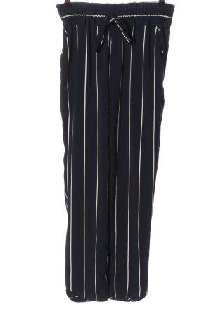 Zara Stoffhose schwarz-wollweiß Streifenmuster Casual-Look
