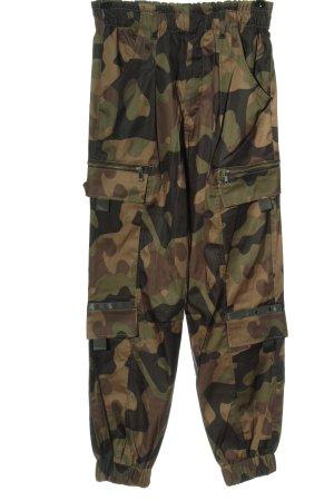 Zara Stoffhose Camouflagemuster Casual-Look