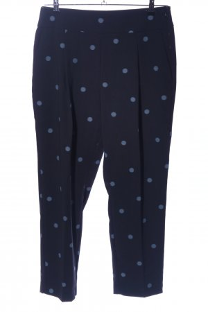 Zara Stoffhose schwarz-blau Allover-Druck Business-Look