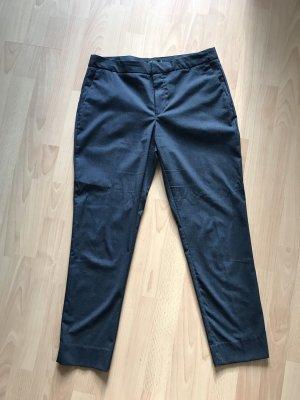 Zara Pantalón de tubo gris pizarra azul oscuro