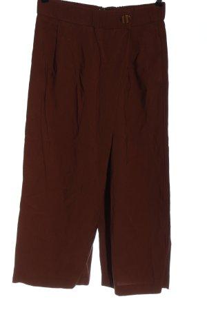 Zara Spodnie materiałowe brązowy W stylu casual