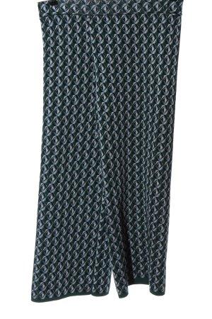 Zara Spodnie materiałowe Abstrakcyjny wzór Elegancki