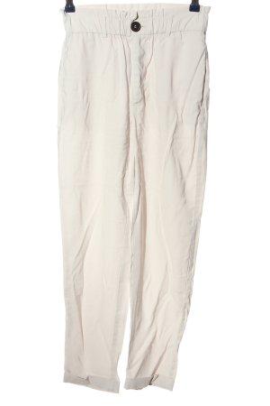 Zara Pantalone jersey bianco sporco stile casual