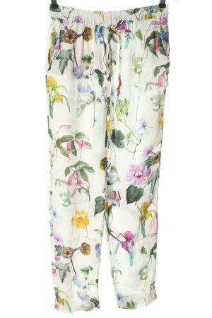 Zara Stoffhose Blumenmuster Casual-Look