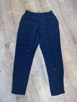Zara Falda pantalón de pernera ancha azul oscuro